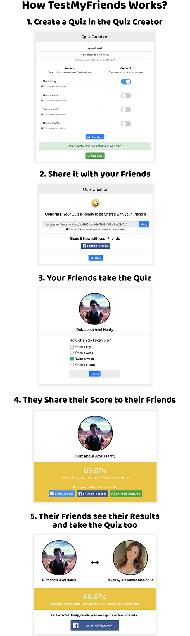 TestMyFriends - Complete Viral Friend Quiz Website - 1